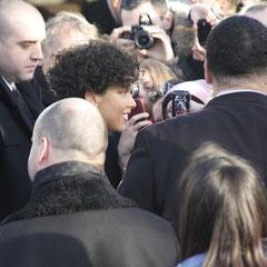 Alicia Keys à la sortie du bateau NRJ à Cannes © Anik COUBLE