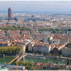 Lyon, depuis la colline de Fourvière  - Photo © Anik COUBLE