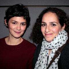 """Audrey Tautou et Faïza Mihoubi - Avant-Première du film """"Casse Tête Chinois"""" - Lyon - Nov 2013 - Photo © Anik COUBLE"""