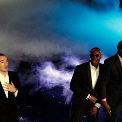Maska,  L.I.O. et Maître Gims de Sexion d'Assaut - NRJ Music Awards 2013 - Cannes © Anik COUBLE