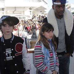 Alan Badaoui-Couble, Ludivine et Black M, sur le bateau NRJ à Cannes © Anik COUBLE