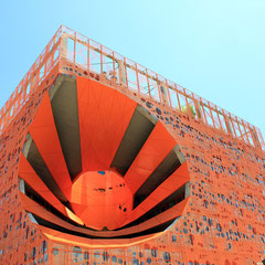La boutique de Design RBC,  fameux Cube Orange des architectes Jakob et MacFarlane - Lyon Confluence - Photo © Anik COUBLE