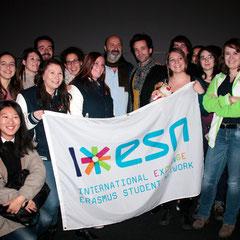 """Les étudiants Erasmus de Lyon - Avant-Première du film """"Casse Tête Chinois"""" - Lyon - Nov 2013 - Photo © Anik COUBLE"""