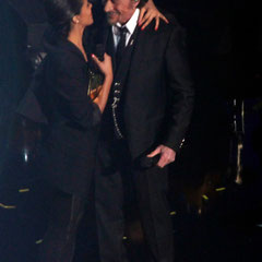 Johnny Hallyday en duo avec Shy'm - NRJ Music Awards 2013 - Cannes © Anik COUBLE