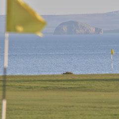 Anstruther Golfclub, Flags 8 and 4 and Bass Rock