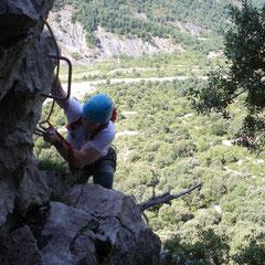 Curso  de Vías Ferratas en Madrid, Pirineos, Cantabria y Burgos. Vía Ferrata de Forradada del Toscar. (Huesca)