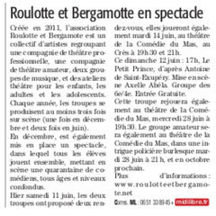 Article Midi Libre Juin 2016