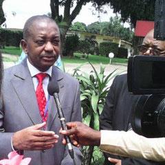 Charles Michaux MOUKOKO NJOH, le DG par intérim face à la presse