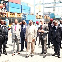 Le ministre MEBE NGO'O en compagnie du PCA et du DG de DIT