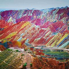 Zhangye Danxia - National Geographic Park, CHINA