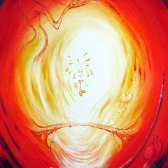 Der Narr; 2011; Acryl auf Leinwand; 90 x 70 cm