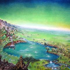 Ithilien; 1995; 50 x 70 cm; Pastellkreide auf Papier