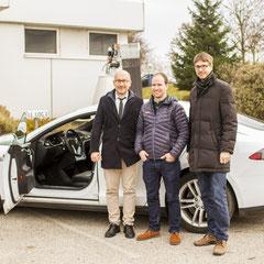 V. l. n. r.: Bartosz Piekarz (i-Log Integrated Logistics), Nikolaus Skarabela und Klaus Holzhaider (beide Schachinger Logistik)|© Eva-Maria Grossauer/Consistix GmbH, 2016