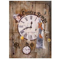 Décembre 2017 - Illustration pour l'affiche Contre Temps. Spectacle de marionnettes.