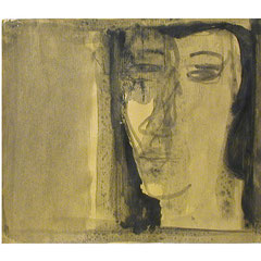 Nasser Hussein, Untitled, 2004 | Acrylic on paper | 27 x 23 cm