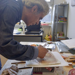 Nasser Hussein in his Studio in Berlin 2015