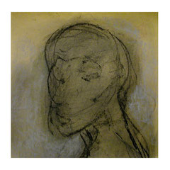 Nasser Hussein, Untitled, 2004 | Charcoal on paper | 32 x 32 cm
