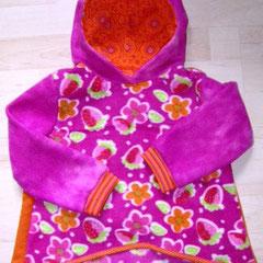 Kapuzenpulli MERLE, als Jackenersatz für den Übergang, Größe 98/104, Fleece & Jersey