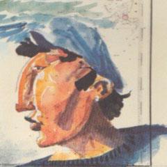 Yvon Lucas, dessin de Gilles Flahault, illustrateur