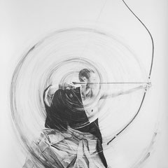 dessin mine en graphite, 2014, 1 m 50 x 2 m 20
