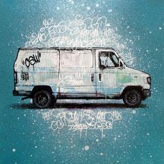 "<b>GRAFFTI VAN</b><br>36 x 36 cm<br><a style=""color:#db6464;"" target=""_blank"">Vendu</br></a> <alt=""art artiste peintre contemporain ville van camion tagué graffiti paysage urbain commander acheter tableau france streetart savoie chambery graffmatt"">"