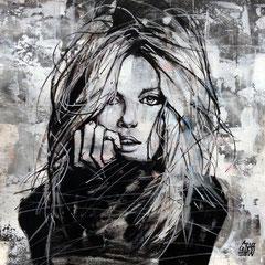 """<b>RISE OF THE REBEL</b><br>25 x 25 cm<br><a style=""""color:#db6464;"""" target=""""_blank"""">Vendu</br></a> <alt=""""art artiste peintre contemporain portrait femme graffiti commander acheter tableau france streetart savoie chambery graffmatt"""">"""