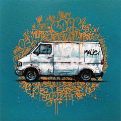 "<b>PRIVATE PROPERTY</b><br>36 x 36 cm<br><a style=""color:#db6464;"" target=""_blank"">Vendu</a> <alt=""art graffiti van truck streetart color urban art urbain vehicule camion tagué vandal œuvre dessin posca moderne graffmatt"">"