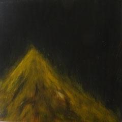 """Burning Hill"" 20 x 20 cm Acryl auf Leinwand"
