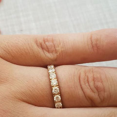 Ring 750 Roségold mit Diamanten 1900€