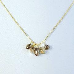 Kette 585 Gelbgold mit kleinen Diamant Brioletten 249€