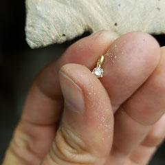 Anhänger brauner Diamant in 585 Gelbgold 249€/Stk.