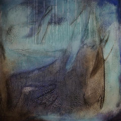 """""""Wassergeist""""  70x70x2   2014  (verkauft)"""