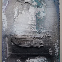 Sumpfkalk auf Holzkörper  20x30, Januar 2018
