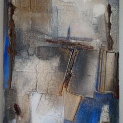 """"""" blau III """"  70x50x2  Juli 2016  (verkauft)"""