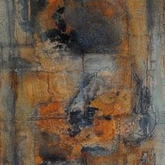 """""""Gedrängel orange""""  50x70x2    2014"""