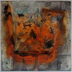 """""""gesprengt""""                   100x100x4,5    2014  Teilnehmer Finalistenausstellung intern.Syrlin Kunstpreis 2015"""