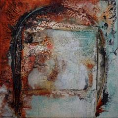 """""""Blick aus dem Fenster"""" 40x40x2  2014  (verkauft)"""