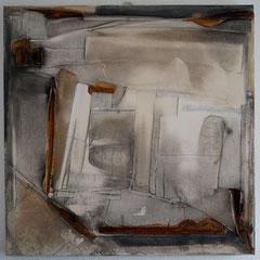 """""""Gewitter über`m Land""""  80x80x4  Jan.2015"""