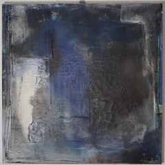 """blau IV""  Acryl auf Marmormehl-Struktur  70x70x4,  Januar 2019"
