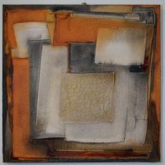 """""""die goldene Mitte""""  80x80x4  2014   (verkauft)"""