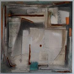 """Dreieck, Winkel, Zirkel und Co""  Feb/2015  80x80x4    (verkauft)"