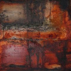"""""""Serie Wände das dritte Rote"""" 60x60x2  2014  (verkauft)"""