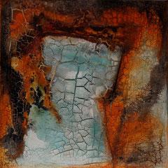 """""""Feuertor""""   60x60x4   2013      (verkauft)"""