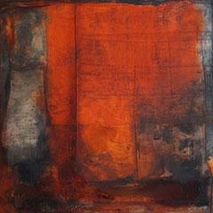 """""""alte rote Wand""""                60x60x4   2014   (unverkäuflich)"""