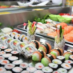 kein Running Sushi, aber grosse Auswahl