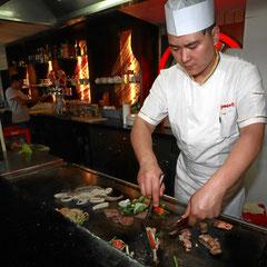 Teppanyaki Grill mit Grillmeister