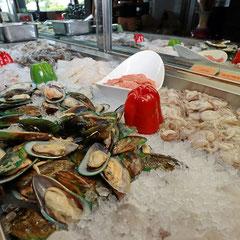 Teppanyaki Ice Buffet mit Meeresfrüchten