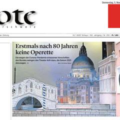 Bote der Urschweiz vom 5. November 2020 - Frontseite
