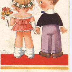 """POUR MES ENFANTS SOUVENIR DE GRANDE BRETAGNE (traduction du texte de la carte """"je vais tout essayer une fois"""")"""