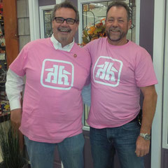... and of course Peter and Fred support the cause as well and were not afraid to slip into the pink shirt!